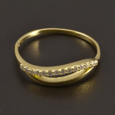 Jemný zlatý prsten se zirkony 8459 č.2