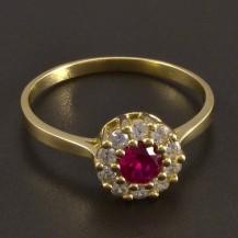 Zlatý prsten s rubínem 8463