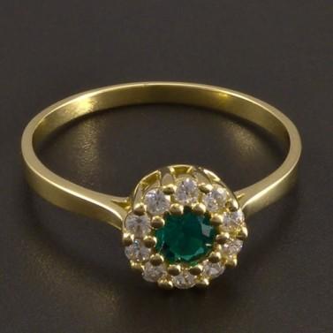 Zlatý prsten se smaragdem 8464 č.1