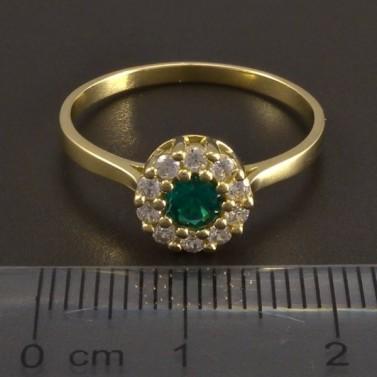 Zlatý prsten se smaragdem 8464 č.2