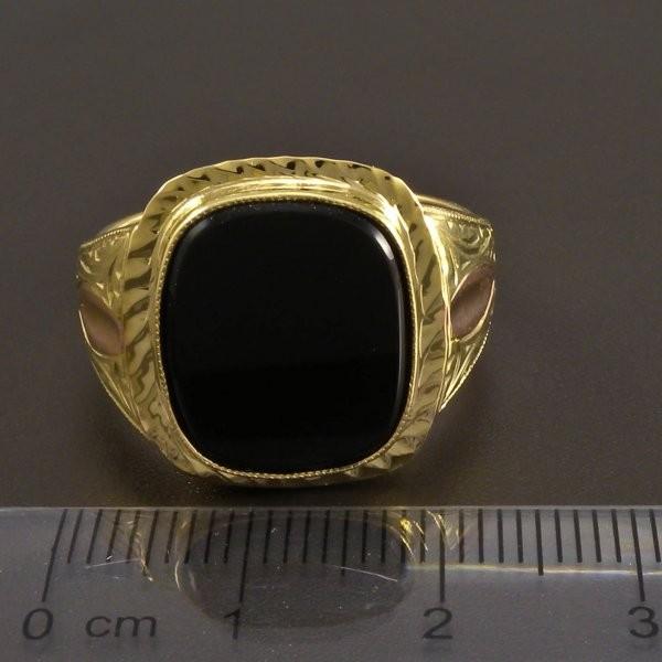 Masivni Zlaty Prsten S Velkym Onyxem Goldpoint Cz
