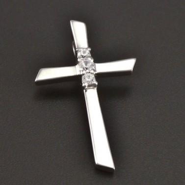 Křížek bílé zlato 8480 č.1