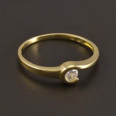 Zlatý prsten se zirkonem 8481 č.1