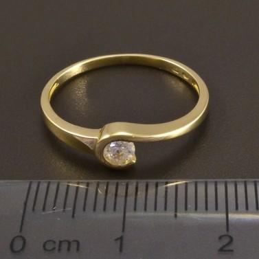 Zlatý prsten se zirkonem 8481 č.2