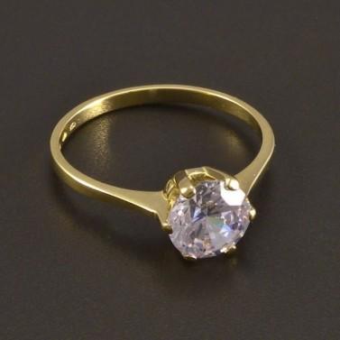 Zlatý prsten zirkon 8482 č.1