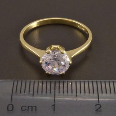 Zlatý prsten zirkon 8482 č.2