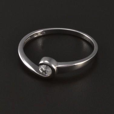 Stříbrný prsten se zirkonem 8483 č.1