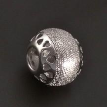 Stříbrná kulička matovaná