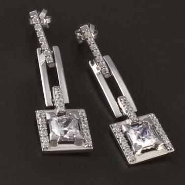 Luxusní náušnice z bílého zlata 3759 č.1