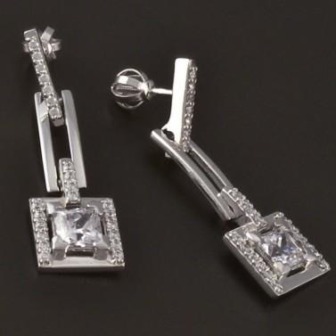 Luxusní náušnice z bílého zlata 3759 č.2