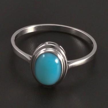 Zlatý prsten s tyrkysovým achátem č.1