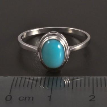 Zlatý prsten s tyrkysovým achátem č.2