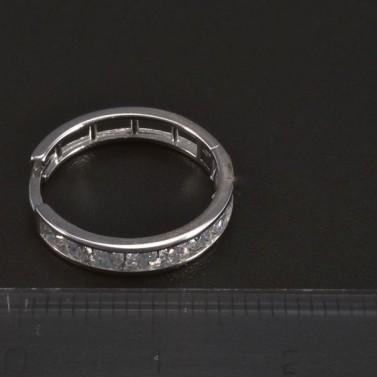 Náušnice kruhy průměr 17 mm bílé zlato č.3