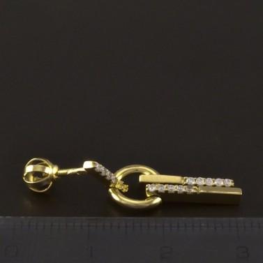 Zlaté náušnice kolečko a tyčka č.3