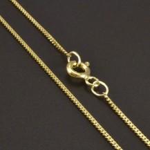 Zlatý řetízek pancr 1 mm