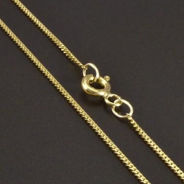 Zlatý řetízek pancr 1 mm č.1