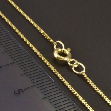 Zlatý řetízek pancr 1 mm č.2