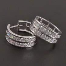 Stříbrné zirkonové kruhy