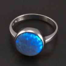 Stříbrný prsten velký opál