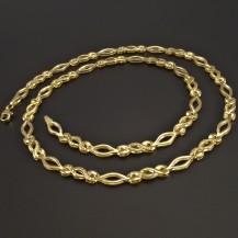 Zlatý náhrdelník vybrušovaný