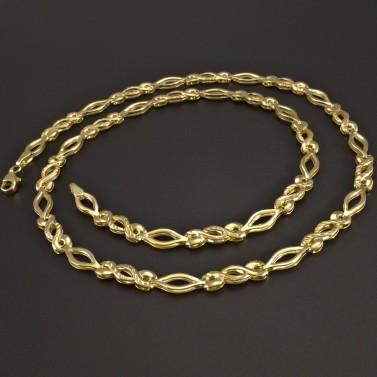 Zlatý náhrdelník vybrušovaný č.1
