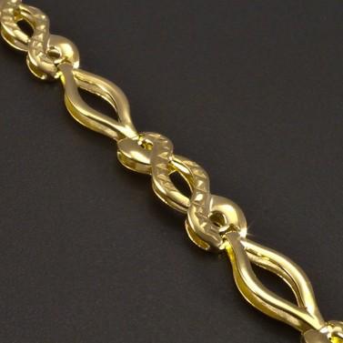 Zlatý náhrdelník vybrušovaný č.2