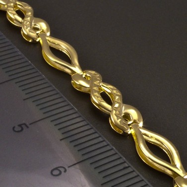 Zlatý náhrdelník vybrušovaný č.3