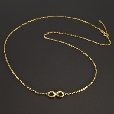 Zlatý náhrdelník nekonečno č.1