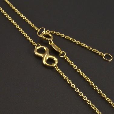 Zlatý náhrdelník nekonečno č.2