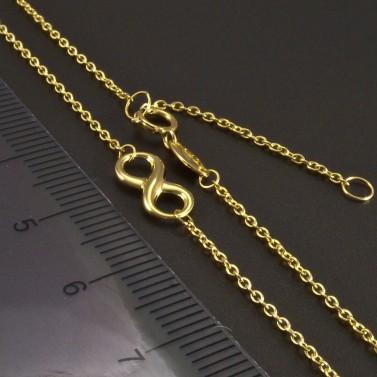 Zlatý náhrdelník nekonečno č.3