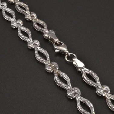 Vybrušovaný náhrdelník bílé zlato č.2
