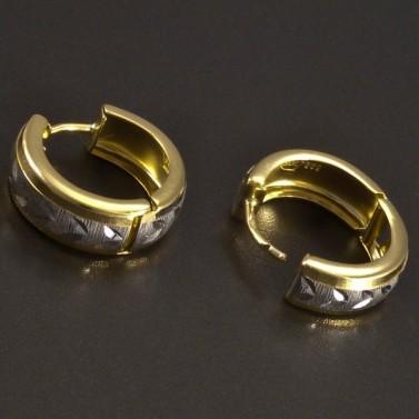 Zlaté kroužky vybrušované č.2