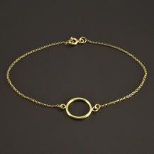 Zlatý náramek s kruhem