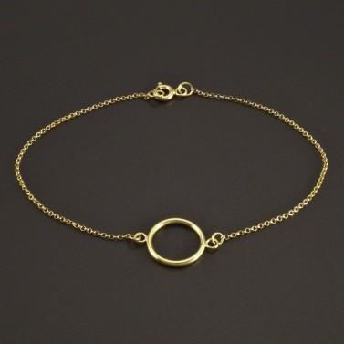 Zlatý náramek s kruhem č.1