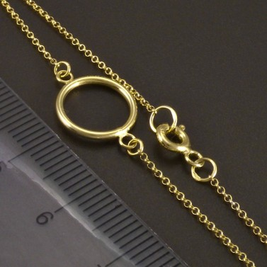 Zlatý náramek s kruhem č.3