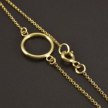 Zlatý náramek s kruhem č.2