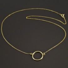 Zlatý náhrdelník s kruhem