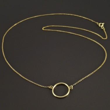 Zlatý náhrdelník s kruhem č.1