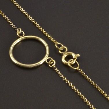 Zlatý náhrdelník s kruhem č.2