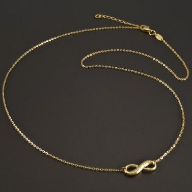 Zlatý náhrdelník symbol nekonečna č.1