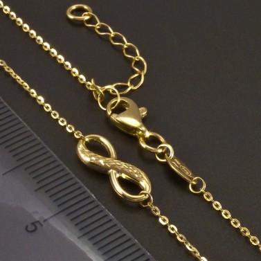 Zlatý náhrdelník symbol nekonečna č.3