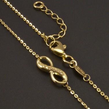 Zlatý náhrdelník symbol nekonečna č.2