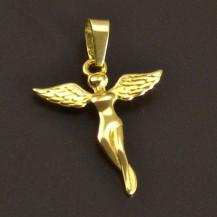 Jemný zlatý přívěsek anděl