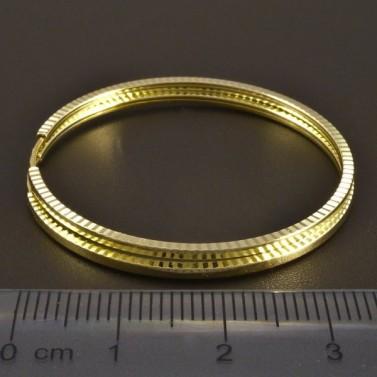 Zlaté kruhy vybrušované č.2