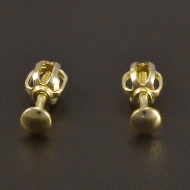 Zlaté náušnice pecky 3 mm č.1