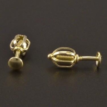 Zlaté náušnice pecky 3 mm č.2