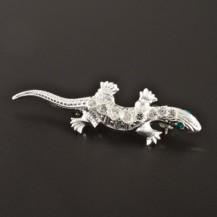 Stříbrná brož ve tvaru ještěrky