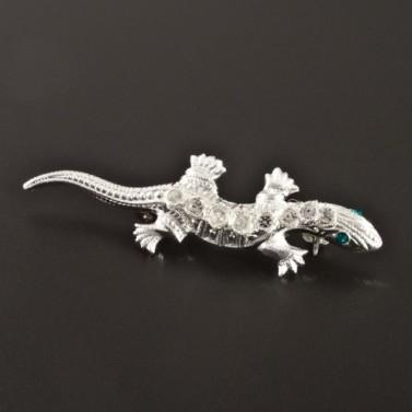 Stříbrná brož ve tvaru ještěrky č.1