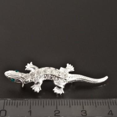 Stříbrná brož ve tvaru ještěrky č.3