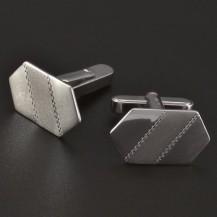 Stříbrné manžetové knoflíky s rytinou